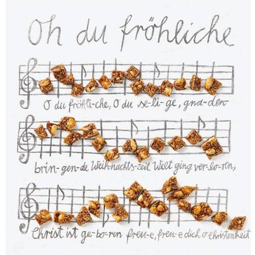 Die Ouvertüre zum großen Auftritt der BRIGITTE-Weihnachtsplätzchen: knuspriger Krokant, komponiert aus Mandeln, Sesam und Pinienkernen.Zum Rezept: Sesam-Krokantwürfel