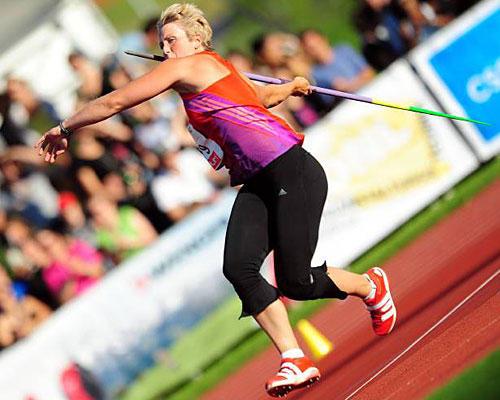 Speerwerferin Christina Obergföll