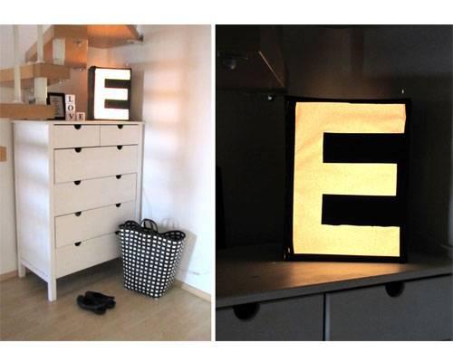 Du brauchst für die Leuchtbuchstaben: