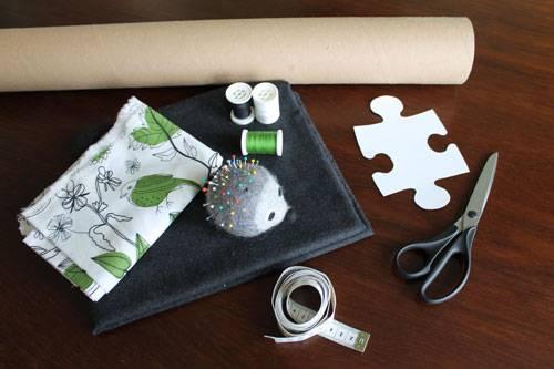 Materialien für eine Puzzle-Matte