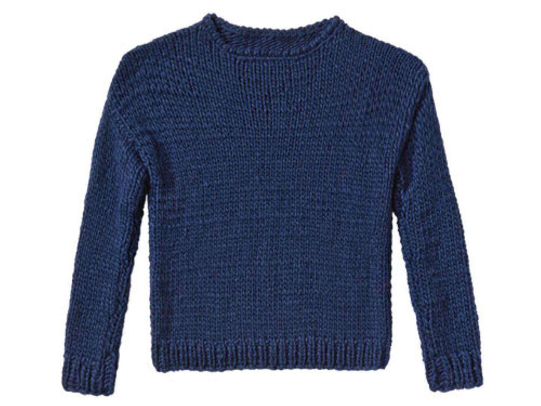 Marine-Pullover