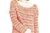 Zweifarbiger-Pullover Mustermix ist in, ebenso leuchtendes Rot - gleich anfangen, dann haben Sie lange Monate etwas von diesem fröhlichen Winter-Wohlgefühl-Pullover. Zur Anleitung: Zweifarbigen Pullover stricken