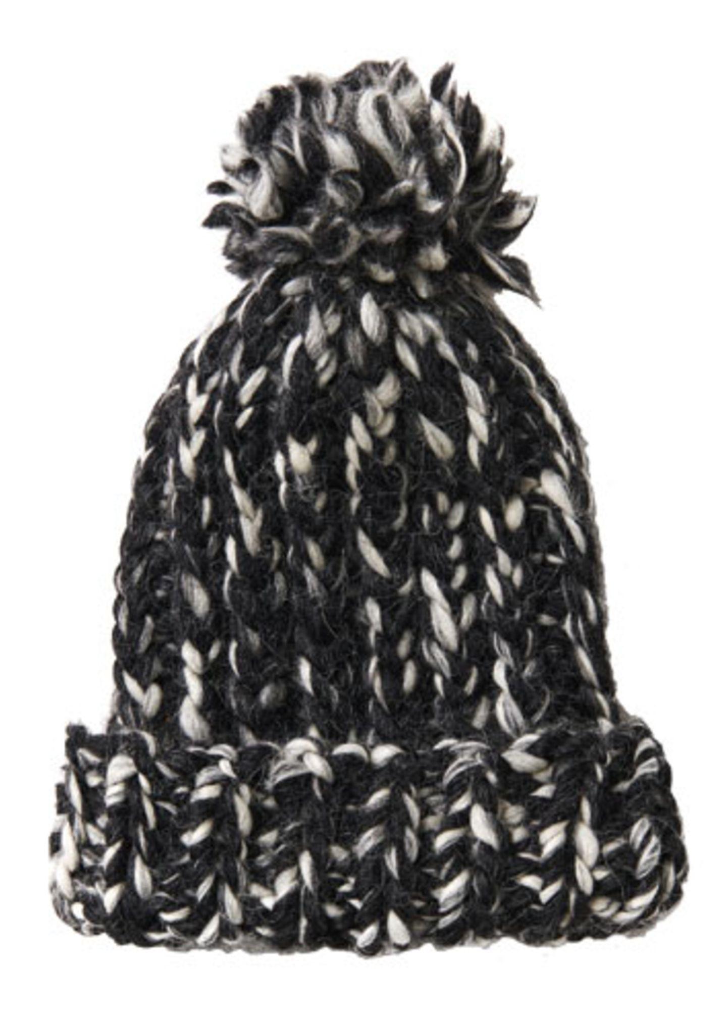 Schwarz-weiße Mütze
