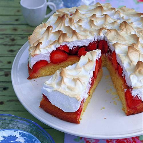 Erdbeer Baiser Torte Brigitte De