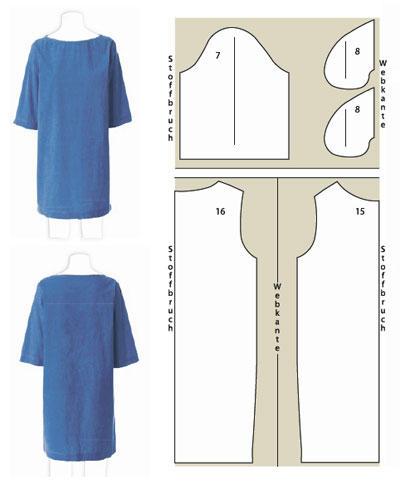 Modell 2 blaues kleid