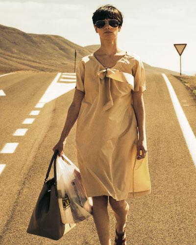 Kleid mit Ausschnittband