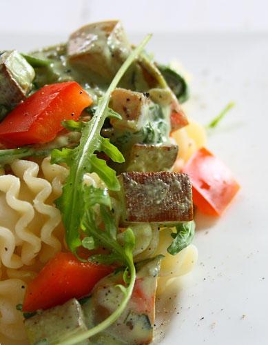 """Spumoni mit Räuchertofu-Rucola-Sauce von """"Vegetarian Diaries"""""""