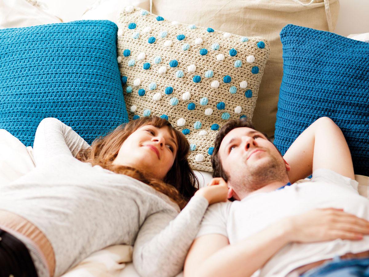 Wohnaccessoires häkeln: Kissen, Poufs und mehr
