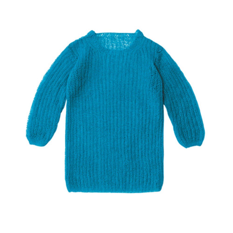 Pullover im Patentmuster aus Mohair und Seide