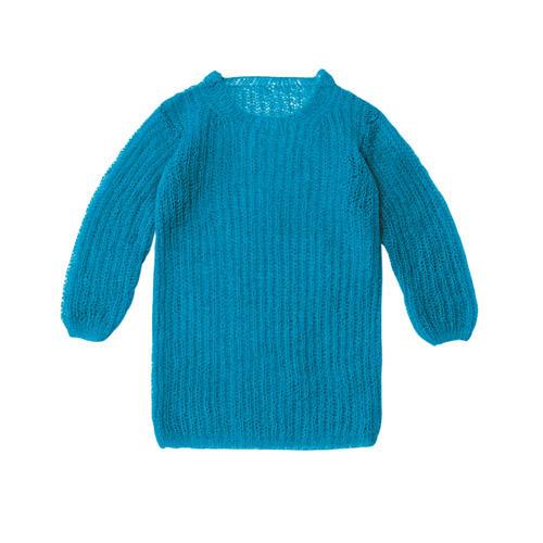Pullover im Patentmuster aus Mohair und Seide stricken
