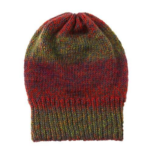 Die Wollmütze mit Rippenrand gibt es in drei Farbvarianten. Zur Strickanleitung: Melierte Mütze stricken