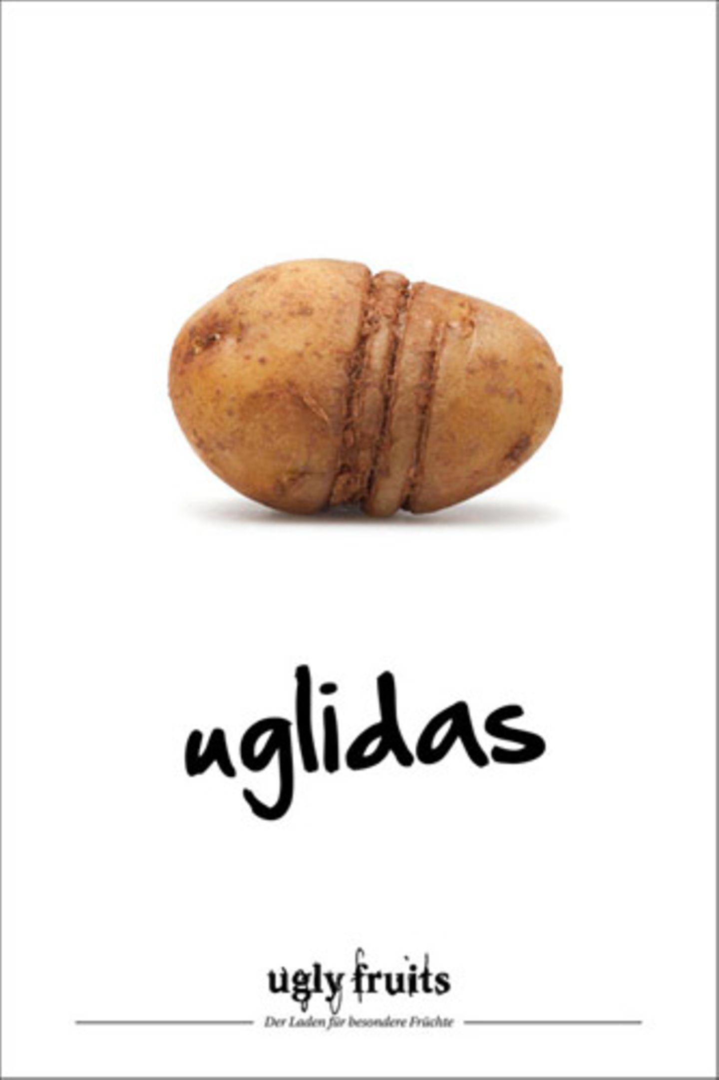 """Mit witzigen Claims soll die Kampagne Berührungsängste der Verbraucher abbauen. Ein gelungenes Konzept: Die """"Ugly Fruits""""-Idee wurde mit dem ADC Junior Award 2013 Silber in der Kategorie Ganzheitliche Kommunikation ausgezeichnet."""