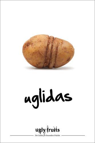 """Lebensmittelverschwendung: Mit witzigen Claims soll die Kampagne Berührungsängste der Verbraucher abbauen. Ein gelungenes Konzept: Die """"Ugly Fruits""""-Idee wurde mit dem ADC Junior Award 2013 Silber in der Kategorie Ganzheitliche Kommunikation ausgezeichnet."""