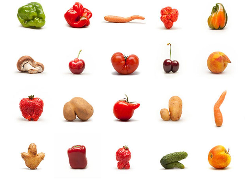 Wer sich die Bilder anschaut, sieht Gemüse mit Charakter. Es entspricht nicht dem gängigen Gemüse-Schönheitsideal. Und ist gerade deswegen interessant.