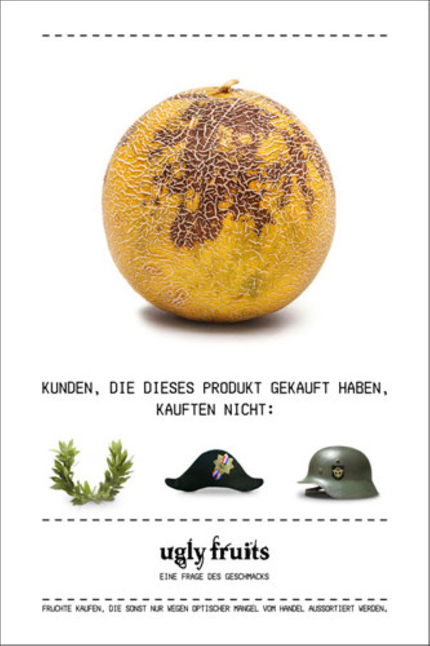 Wer will schon gern in der Militarismus-Ecke stehen? Dann lieber fleckige Melonen kaufen...