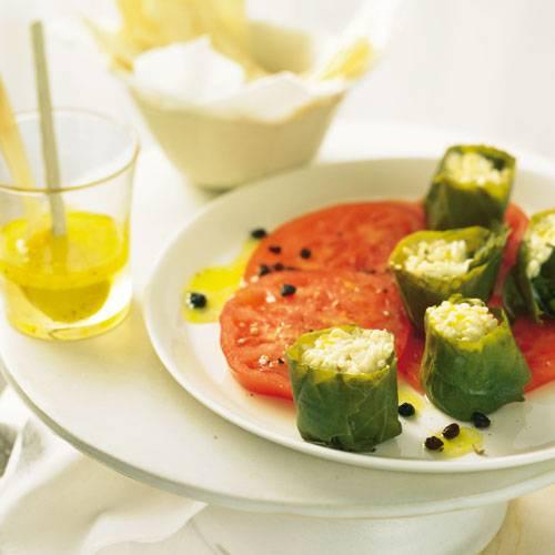 Sushi mit Korinthen-Vinaigrette
