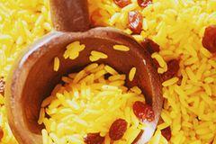 Geelrys - Gelber Reis mit Rosinen