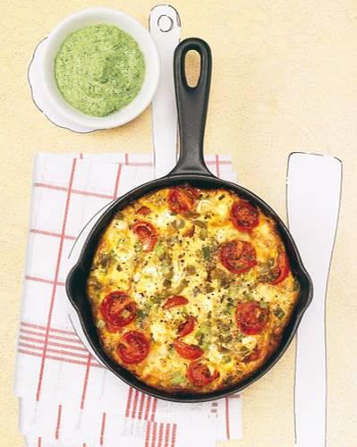 Tortilla mit Grüner Soße
