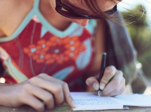 Schreiben Sie auf, was Sie belastet...