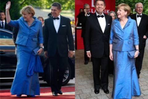 Angela Merkel trägt bei offiziellen Anlässen gern dasselbe Kleid - und ist damit nicht allein