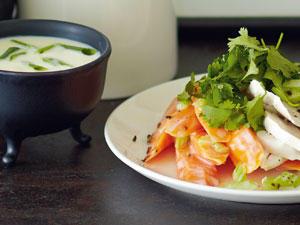 Füreinander bestimmt: Suppe und Salat