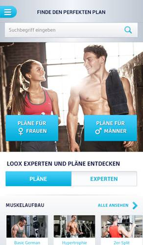 LOOX Fitness Planer: Fitness-App für Figur-Workouts