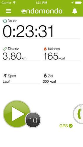 Endomondo Sports Tracker: Fitness-App für Outdoor-Sportarten