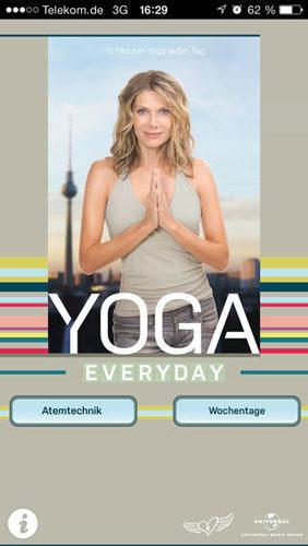 Ursula Karven, Yoga Everyday: Fitness-App für Yoga