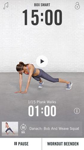 Nike Training Club: Fitness-App für Figur-Workouts