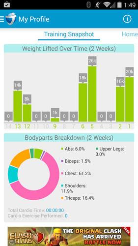 JEFIT Workout: Fitness-App für Figur-Workouts
