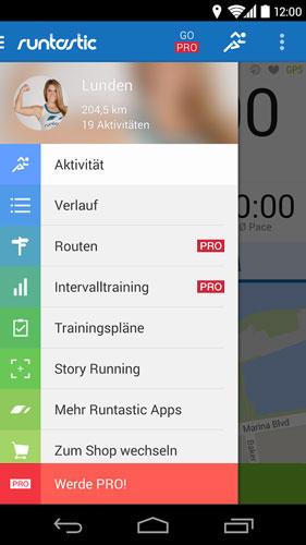 runtastic: Fitness-App für Joggen und andere Ausdauersportarten