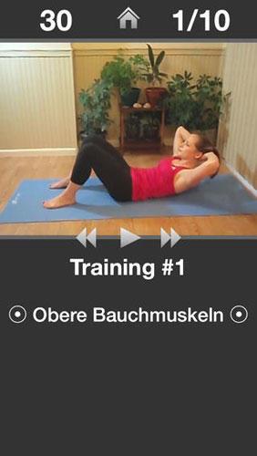 Tägliches Bauchtraining: Fitness-App für einen trainierten Bauch