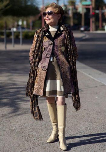 Modetrends aus Manhattan: In Phoenix lernte der Streetstyle-Fotograf und Autor die fabelhafte Kati kennen - Vintage- und Stiefel-Fan, über 80 Jahre alt und eine echte Lady mit Stil.
