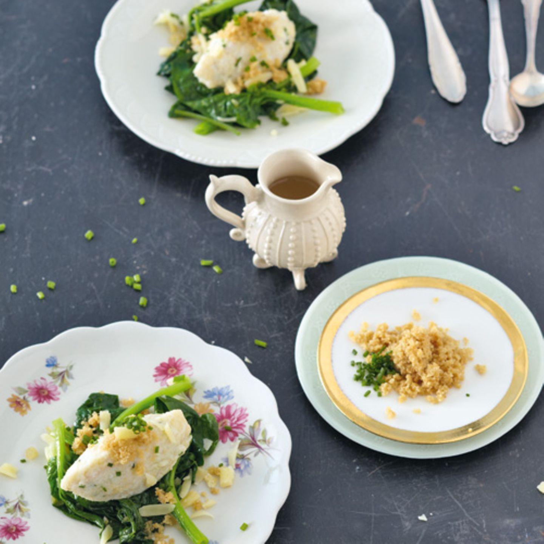 Bergfund - Graukäse war in den Alpenländern ein Arme-Leute-Essen Zum Rezept: Graukäsenocken auf Spinat