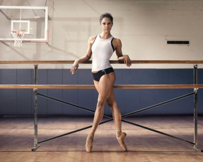 Die kraftvolle Ballerina
