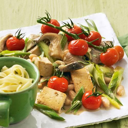 Pilz-Ragout mit Tomaten