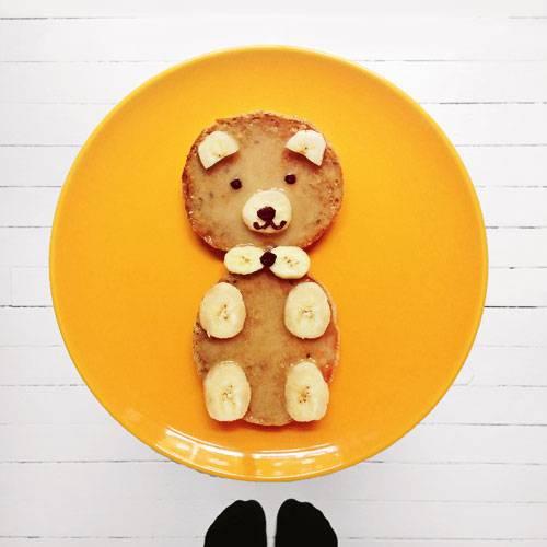 Frühstücken mit Kindern: Supersüßer Bär