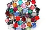 Bunter Ring aus Perlen von Rollendes Atelier