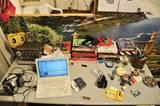 Blick in eine grüne Flusslandschaft: Hier arbeitet ein Designer in der Millionenstadt Kairo.