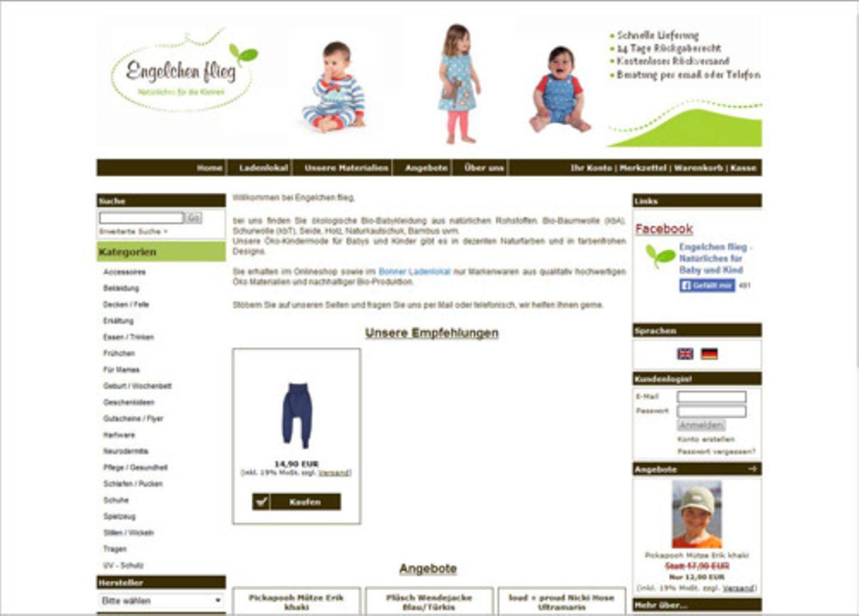 """""""Prima Onlineshop für biologisch hergestellte Kindermode und Accessoires. Neben günstigen Modebasics findet man hier auch Praktisches wie Pucksäcke, Trainingshosen fürs Trockenwerden oder Lammfell-Handwärmer für den Kinderwagen. Super sind auch die Rubriken """"Neurodermitis"""" und """"Frühchen"""" für besondere Ansprüche."""" - Michèle Rothenberg"""