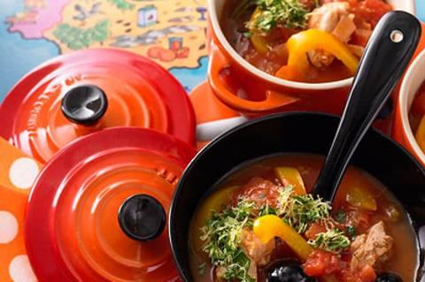 Spanisches Hähnchen mit Paprika und Oliven