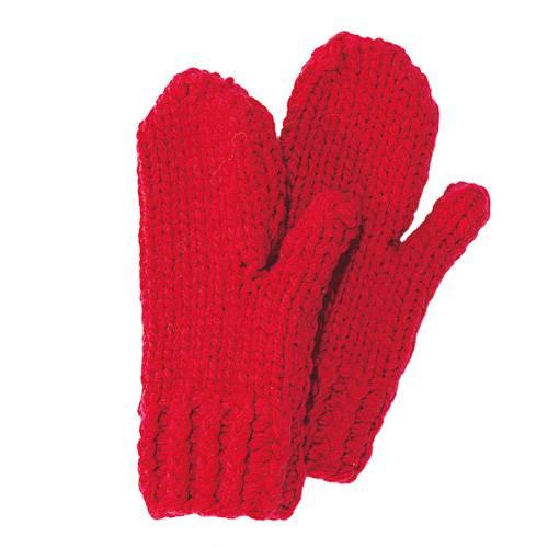 Handschuhe in leuchtenden Farben, die garantiert nicht an der Garderobe vergessen werden! Die Fäustlinge werden mit dreifachem Faden gestrickt und sind so schnell fertig, dass auch das Patenkind und die Cousine noch bestellen dürfen. Zur Strickanleitung: Fäustlinge für Kinder stricken