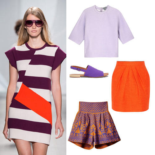 Farben im Frühling 2015: Orange & Lila