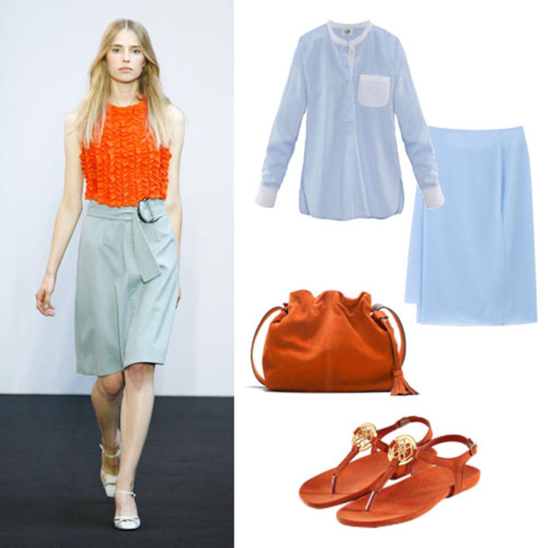 Farben im Frühling 2015: Hellblau & Orange