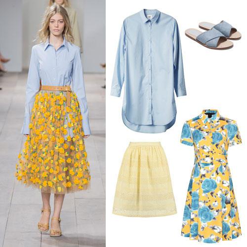 Farben im Frühling 2015: Hellblau & Gelb