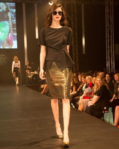 BRIGITTE Fashion Event: Top: Asos. Rock: Rosenbaum. Schuhe: JustFab. Brille: Mykita.