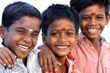 Kinder Indien lachen