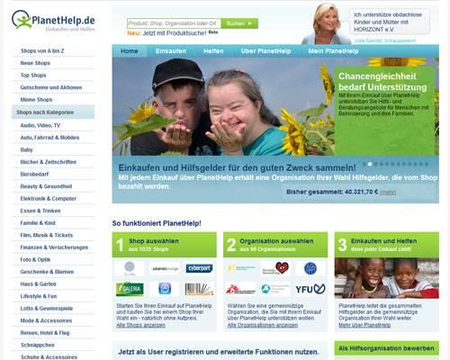 Planet Help: Spenden durch Online-Shopping