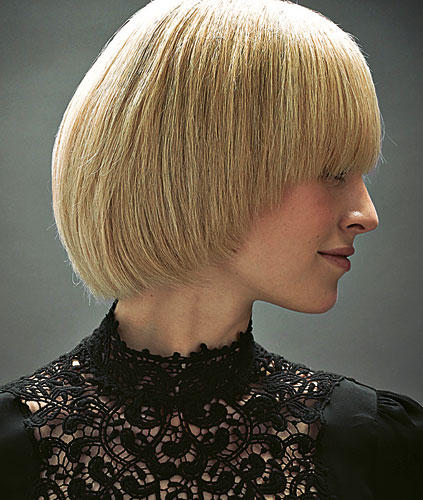 Mittellange Haare: Rundschnitt