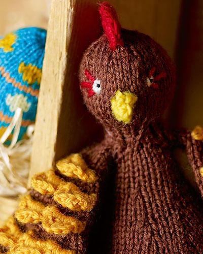 Huhn stricken: brauen Huhn selbst gemacht